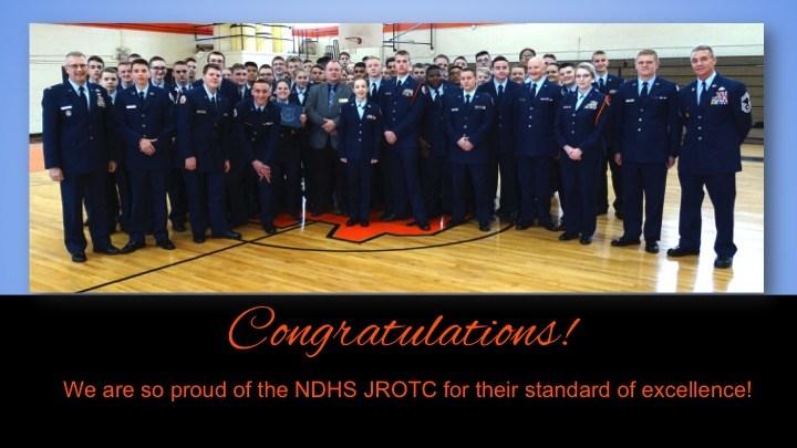 NDHS JROTC Inspection Slide