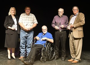 Inductees into the Alvarado ISD Hall of Excellence.
