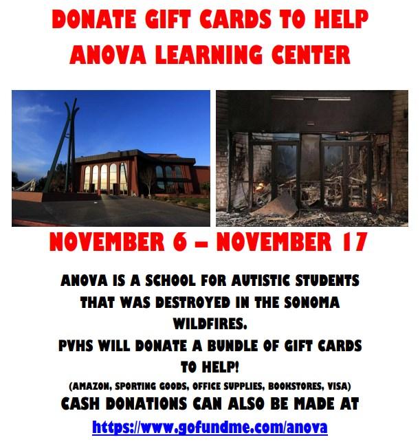AID SONOMA COUNTY FIRESTORM VICTIMS AT ANOVA SCHOOL Thumbnail Image
