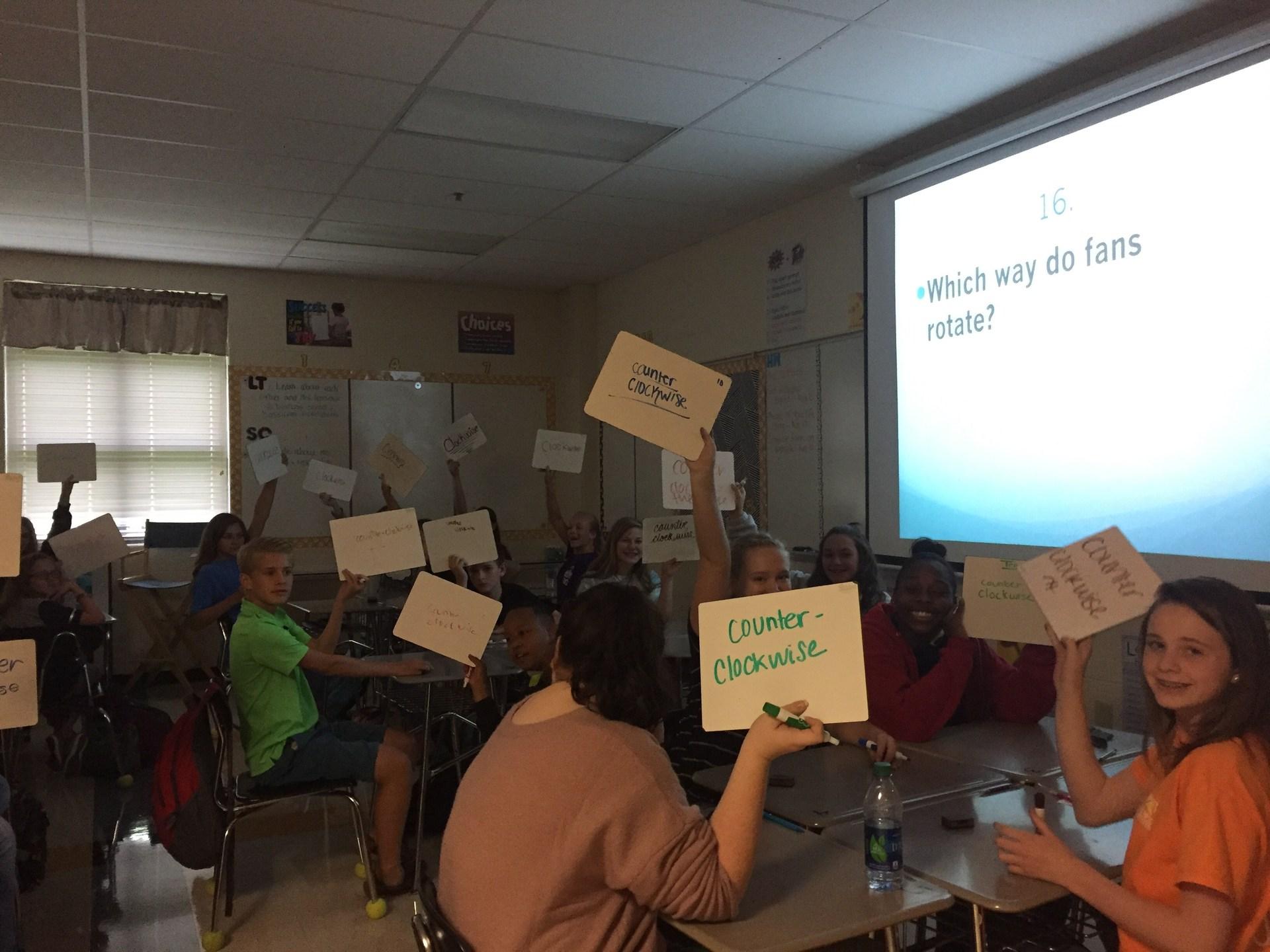 Trivia Day in Mrs. Arceneaux's Class