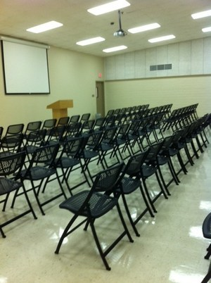 conference room c, seats without tables