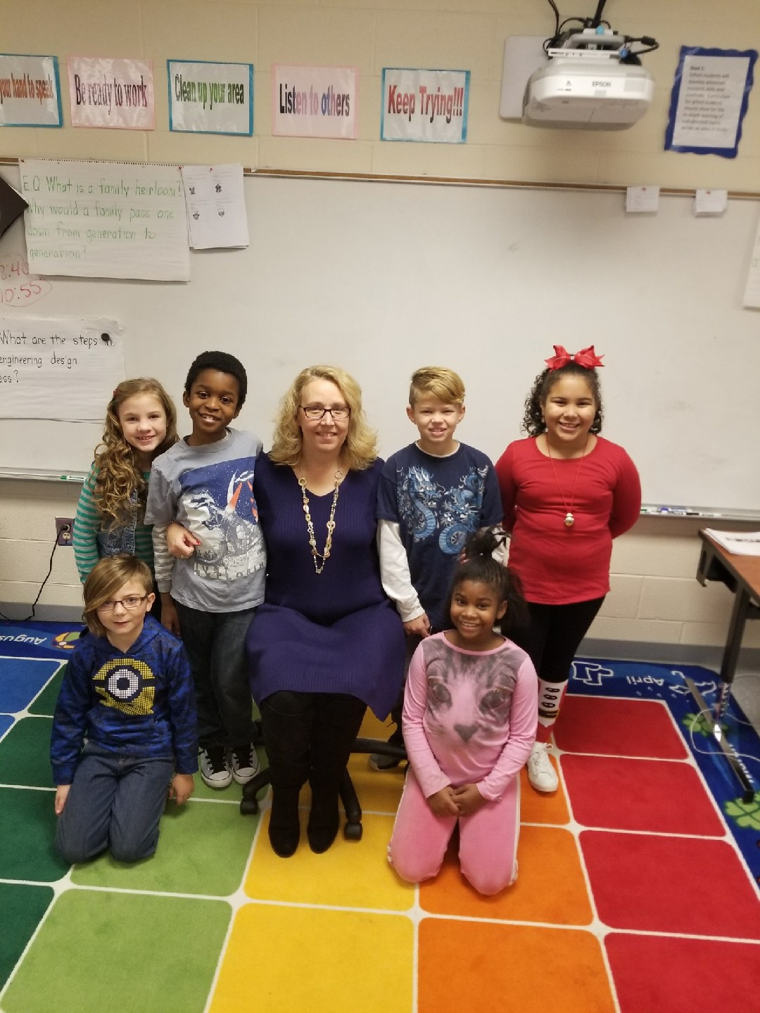 Mrs. Johnson with her 3rd Grade Gateway students
