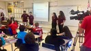 Independence High School students teaching elementary students.