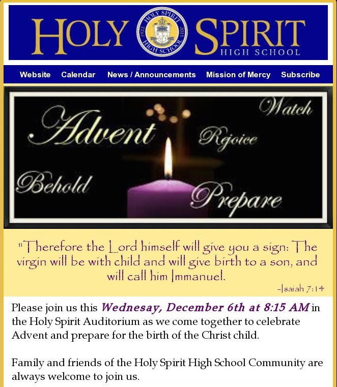 All Are Welcome ~ Advent Liturgy Featured Photo