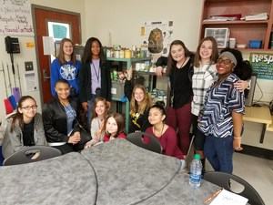 Student Government with canned food drive