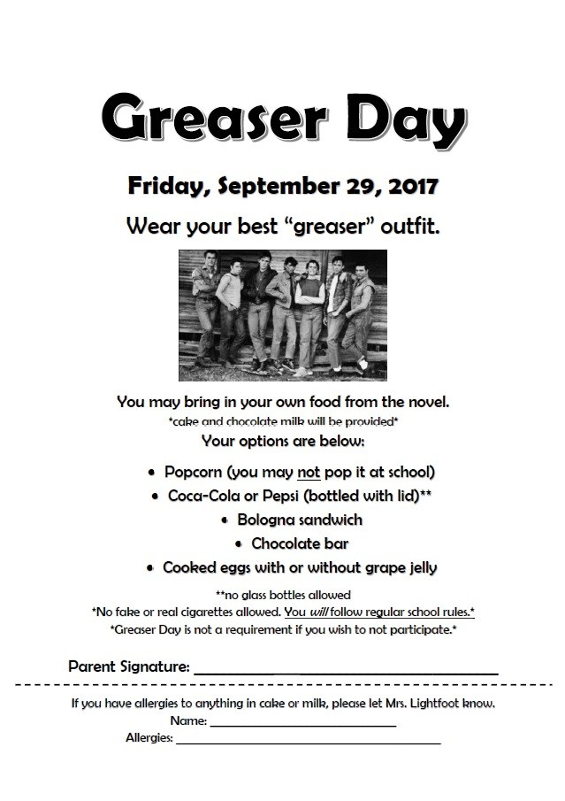 Greaser Day Flyer