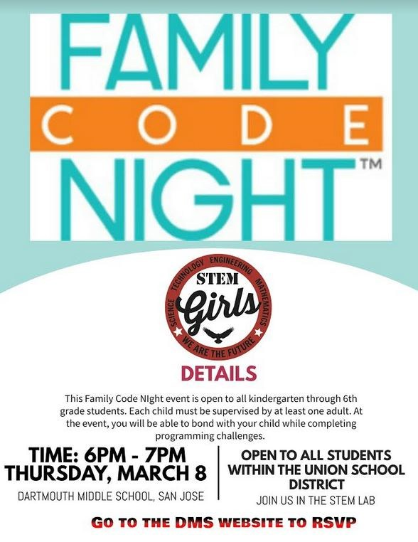 March 8-Family Code Night (Click here to register) Thumbnail Image