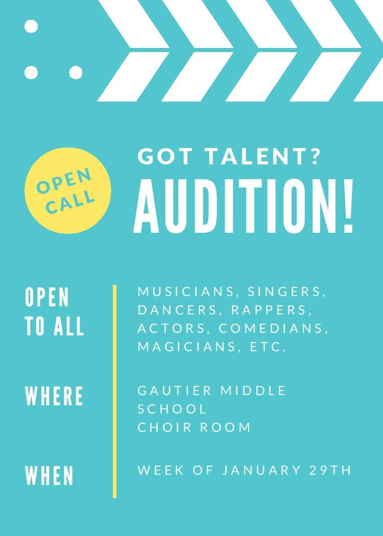 school talent show flyers