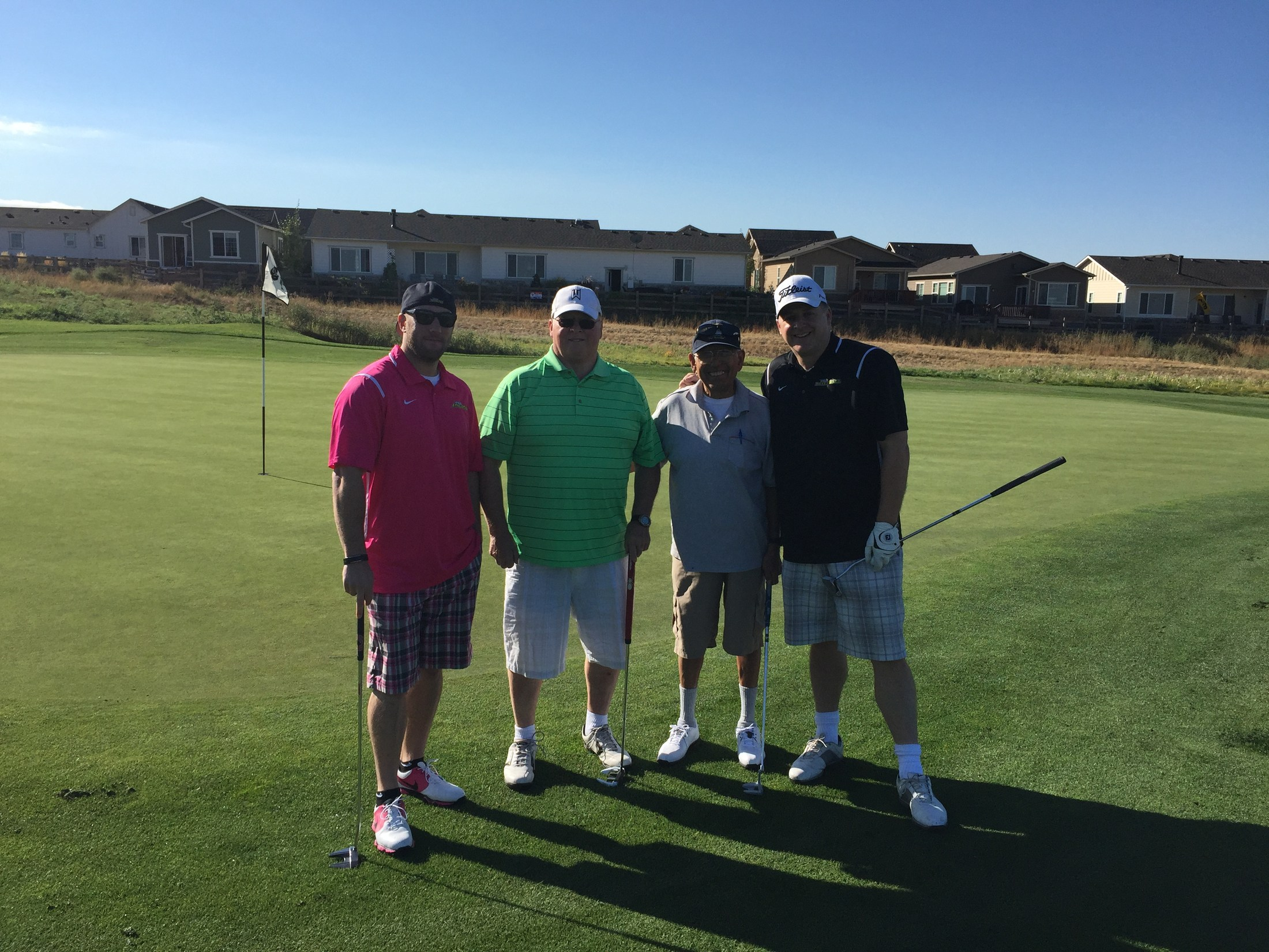 PRA Staff and Family in Colorado National Golf Course