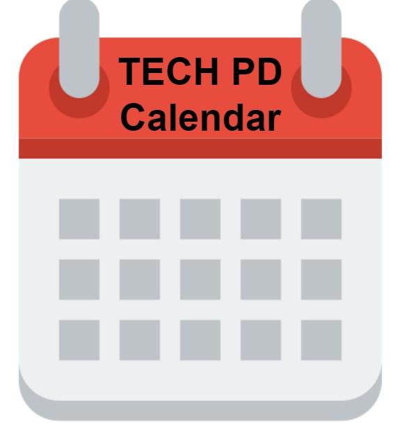 Tech PD Calendar