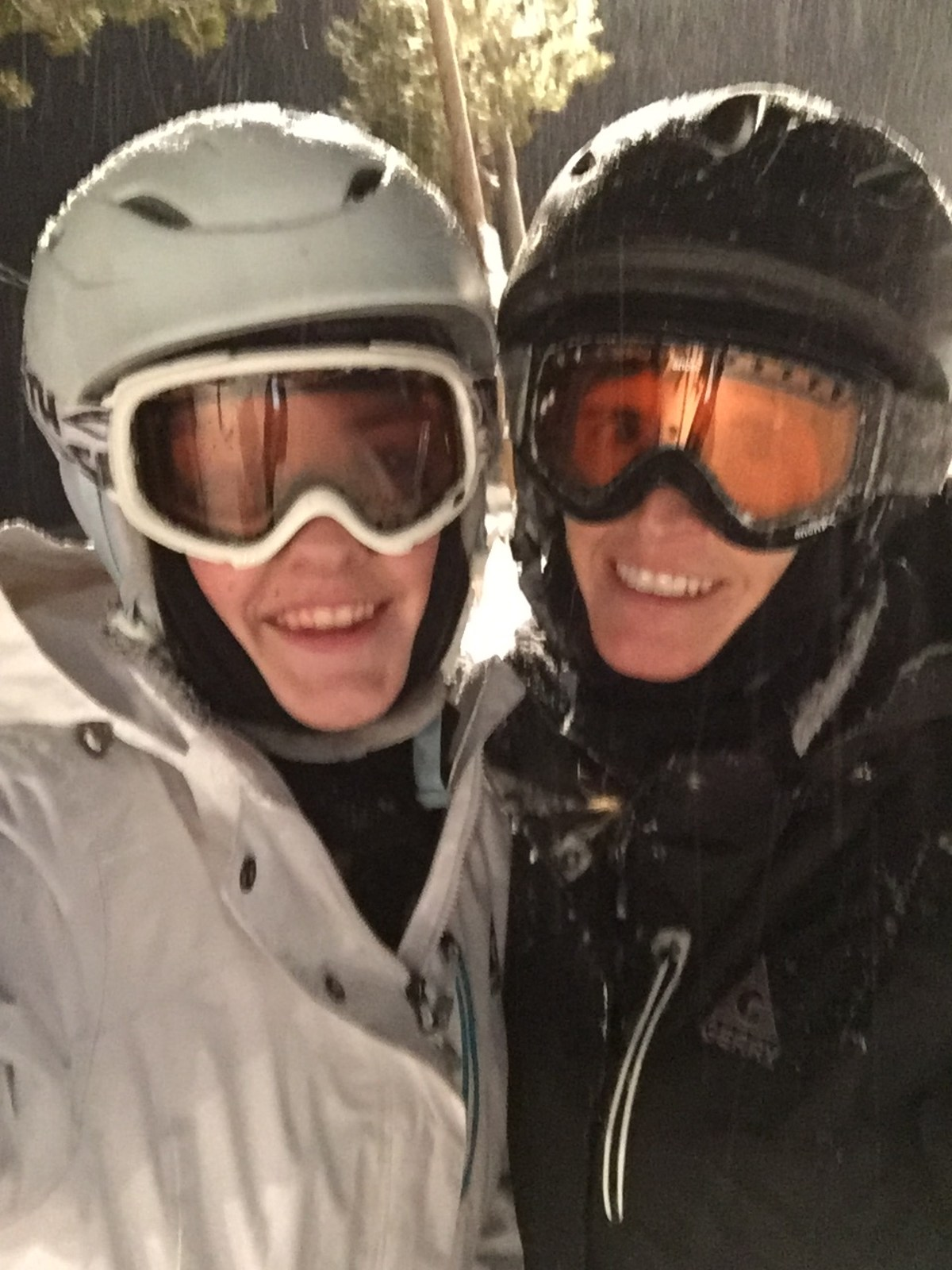 Skiing with my daughter