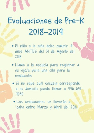 Pre-K Screening Requirements Flyer - Spanish