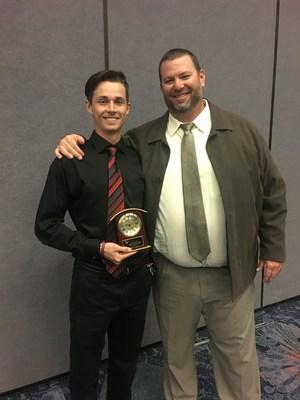 Luke with Coach Bailey