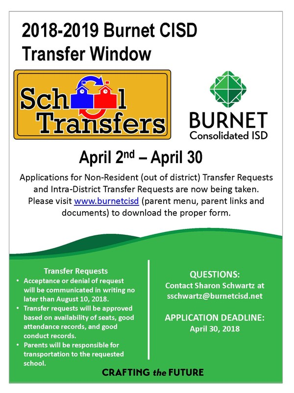 Requests for Student Transfers Now Being Accepted Thumbnail Image