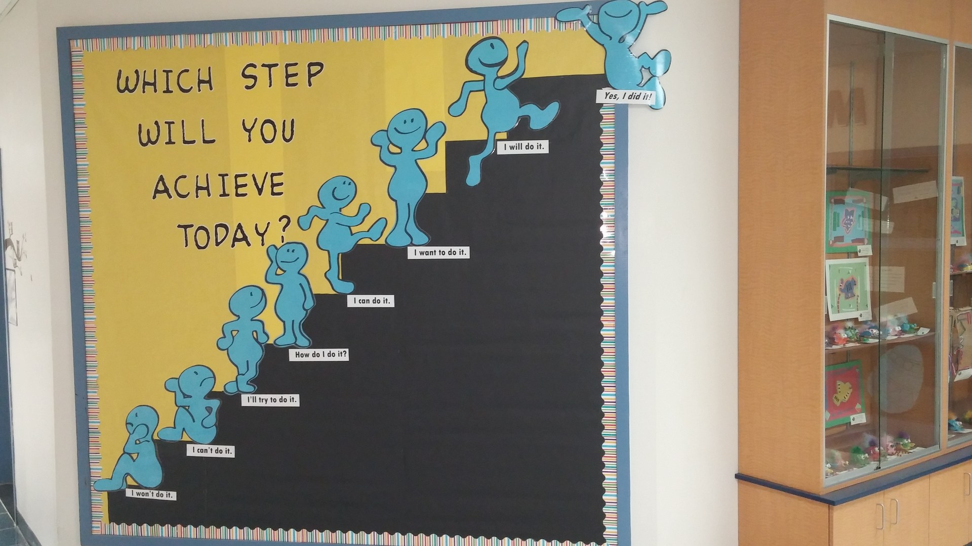 Growth Mindset Bulletin Board: Which step will you achieve today?