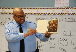 Sgt. Davis, SLMPD, Old North African American Read-In