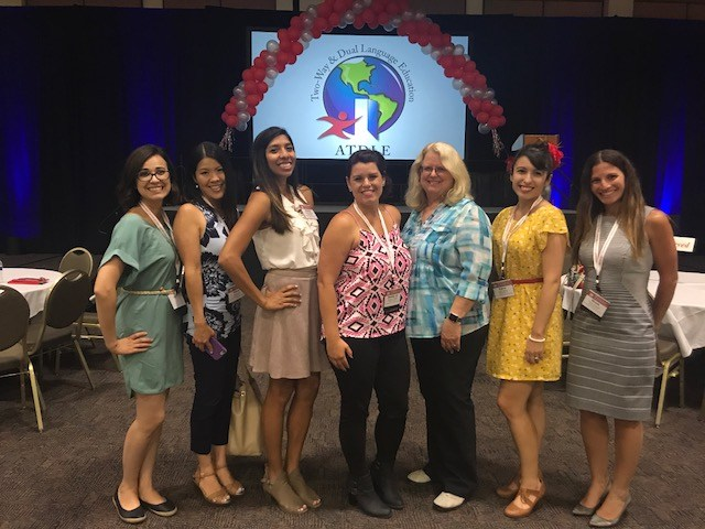 Dual teachers attended ATDLE conference this summer to network, learn, and share best practices around dual language education.