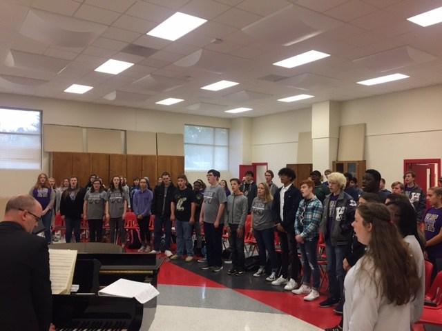 Mixed Choir in rehearsal