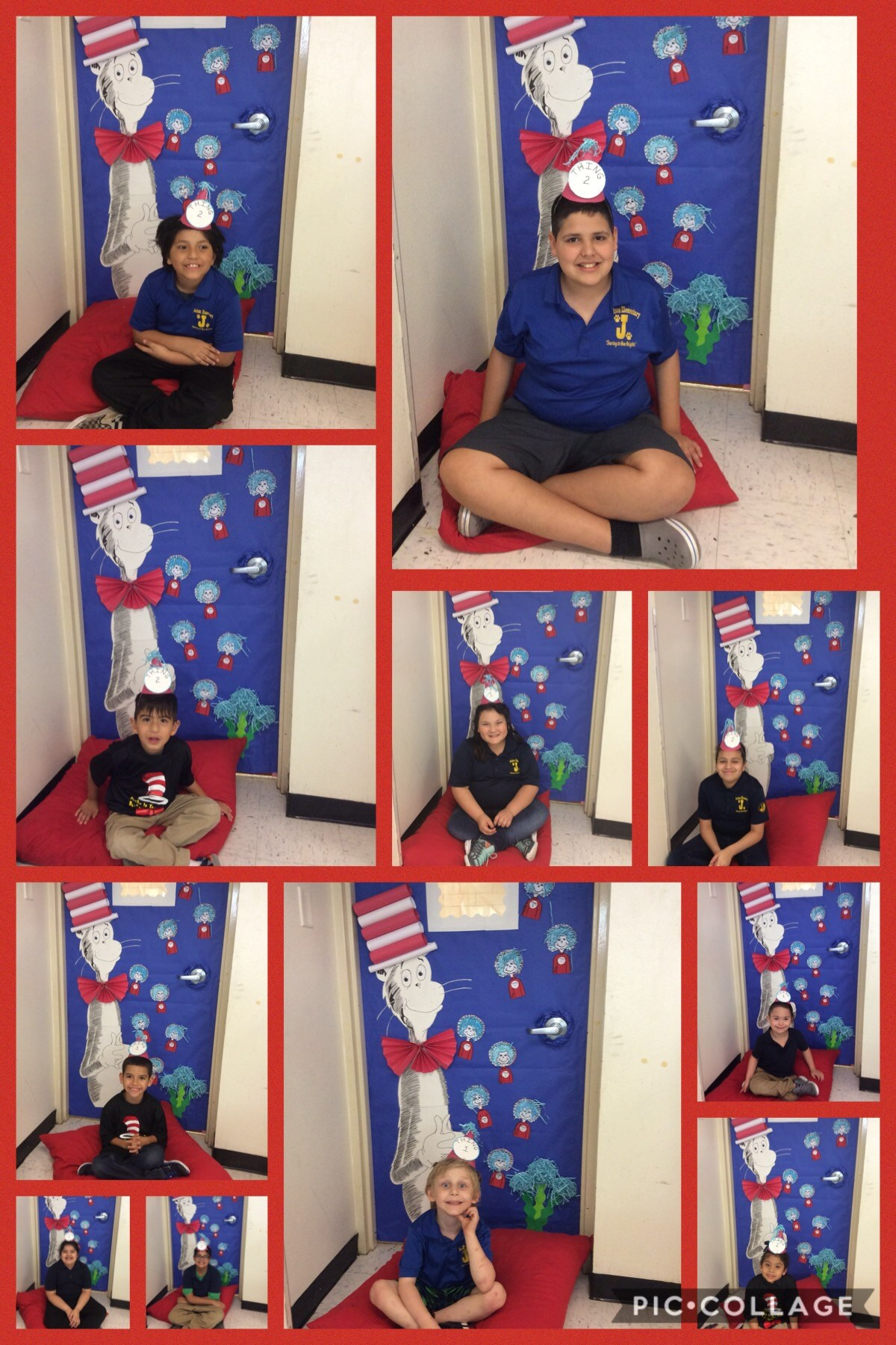students participate in dr. seuss week