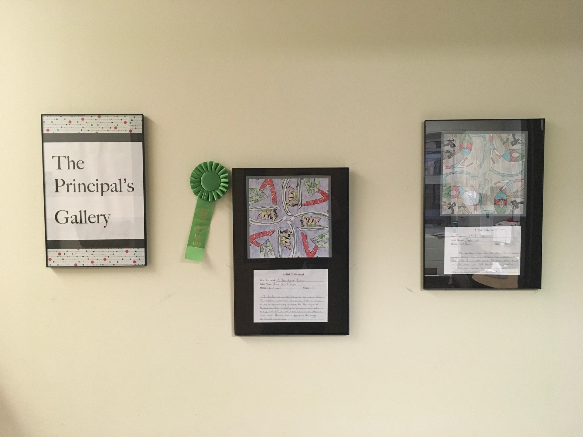 Principal's Gallery at Coal City Middle School