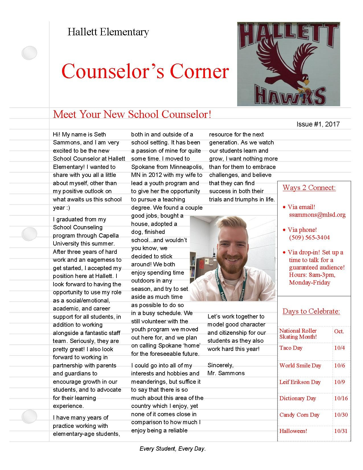 New Counselor Introduction