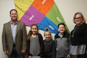 Houston Elementary Students honor MWISD Board of Trustees