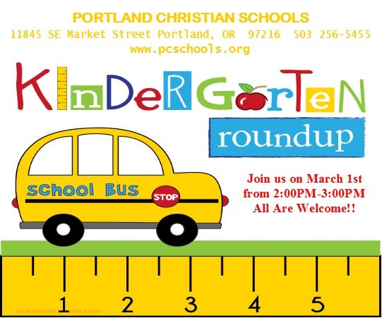 Kindergarten Roundup March 1 announcement