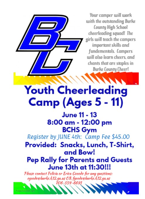 Youth Cheerleading Camp Flyer