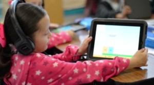 Photo of student using iPad