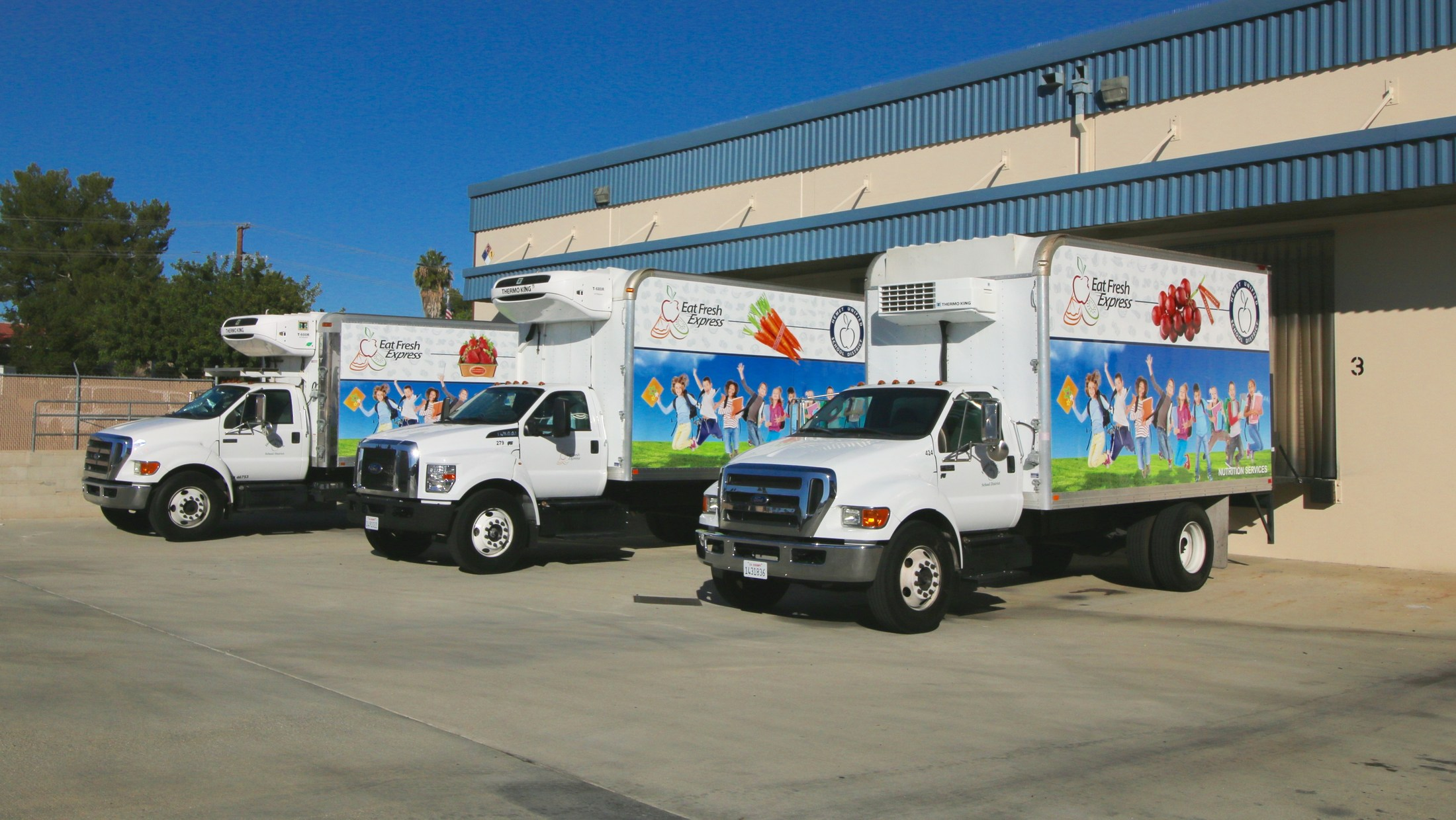 Three new delivery Trucks