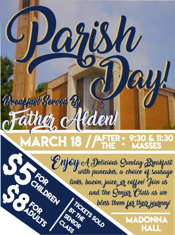 PARISH DAY - March 18, 2018 Featured Photo