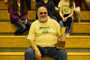 Mr. Lesifko with Crusader Cup