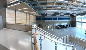 Great view of the Commons from the second floor.