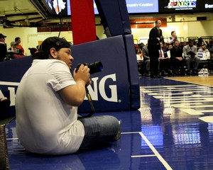 Kevin taking photos