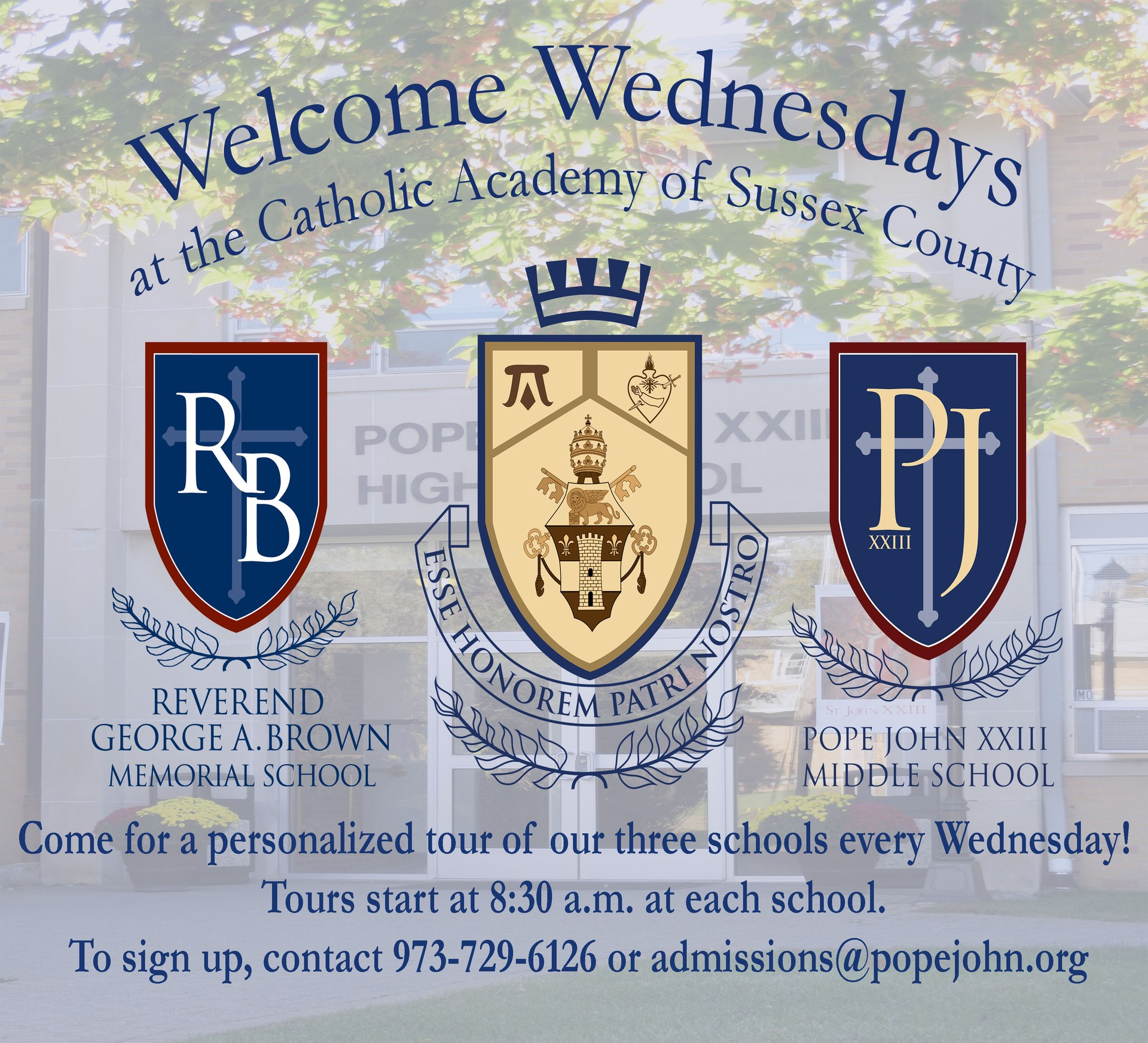 Welcome Wednesdays at Pope John