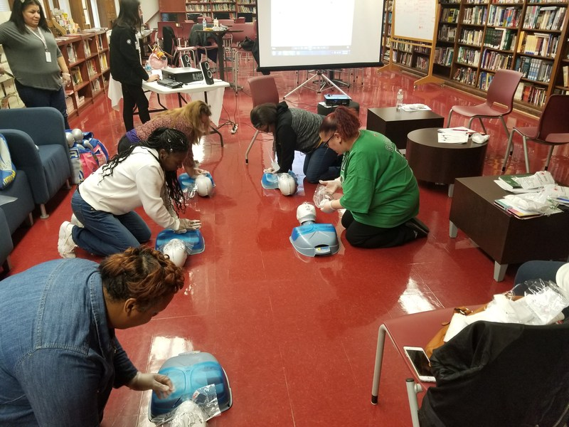 Red Cross Provides CPR Training to Gage Park H.S. Parents Featured Photo