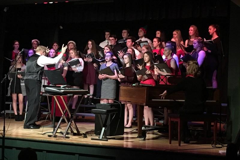 The OLSH Choir performs a concert.