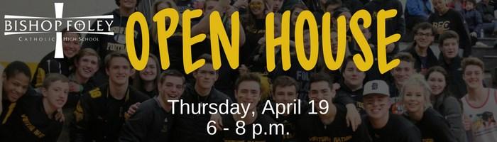 Open House: Thursday, April 19 @ 6 p.m.
