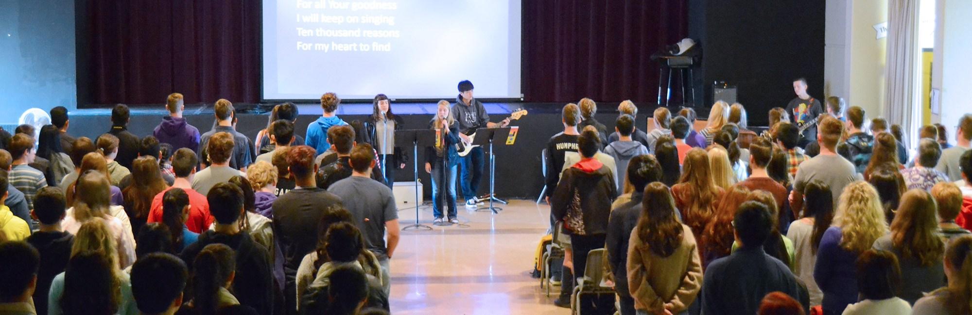 Sr High Chapel - student led worship