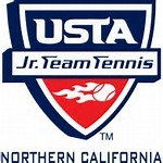 Red, White, and Blue Shield with USTA Junior Tennis Nor Cl