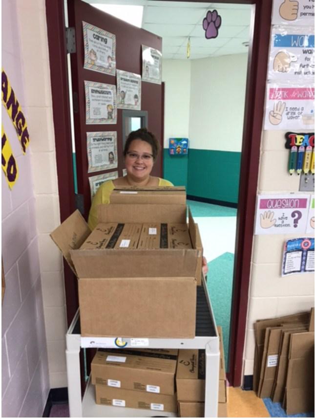 Candy Fundraiser Distribution ~ PTO President Vanessa Ramirez