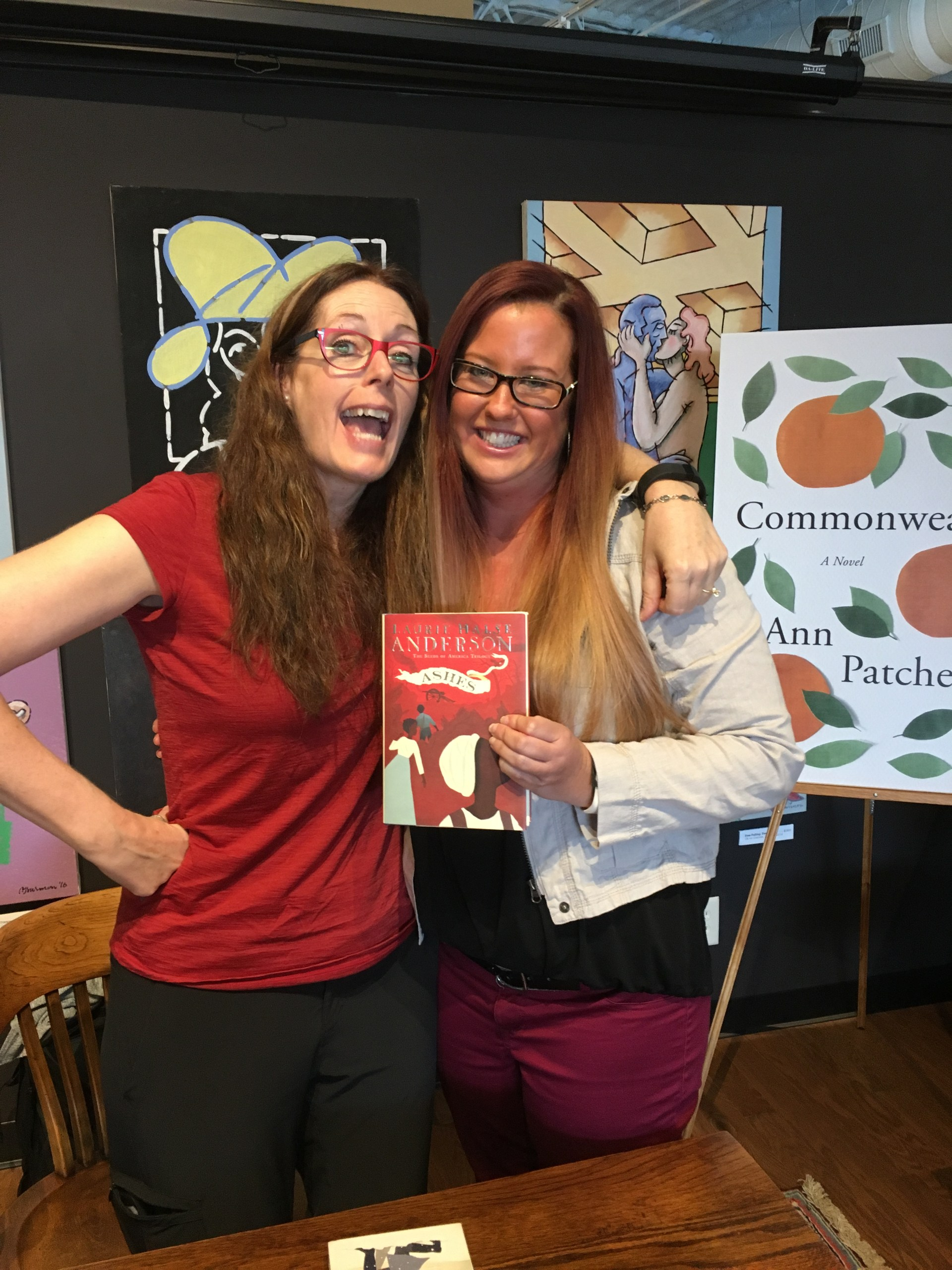 Ms. Rein with author Laurie Halse Anderson 2016