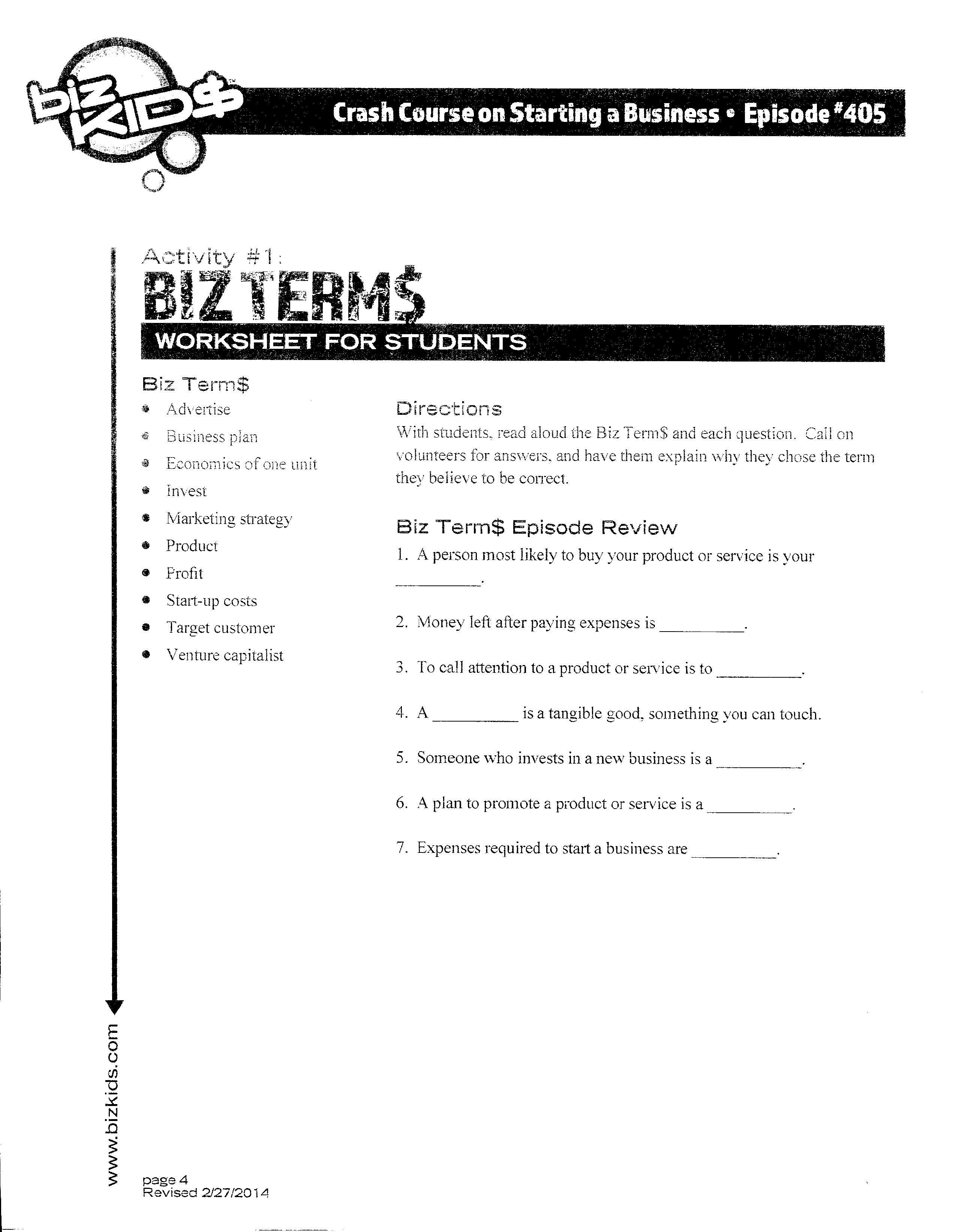 business plan activity
