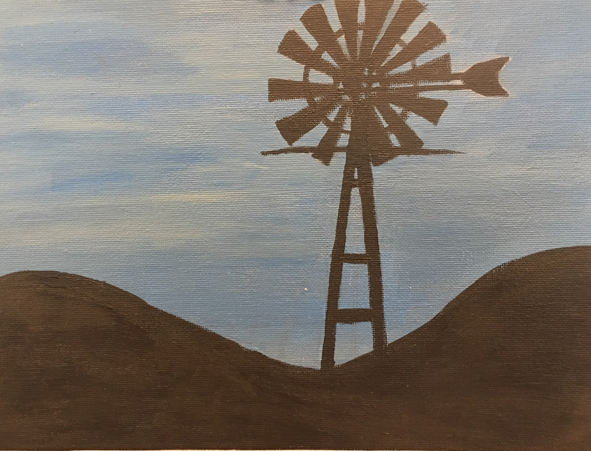 Student Painting Windmill