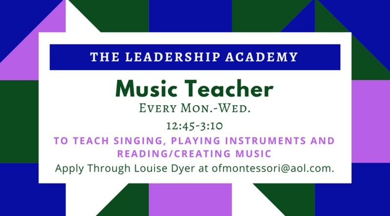 Job Opening - Music Teacher Featured Photo