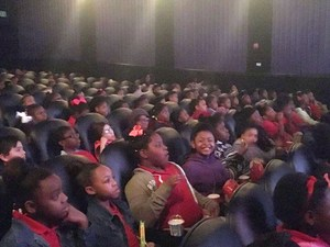 Students at Hidden Figures Movie Screening