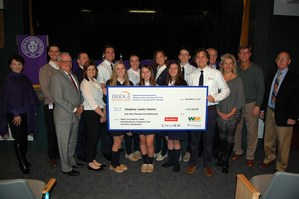 A group of OLSH students and administration pose for a photo with business leaders and state representatives, as well as officials from other school's benefiting from the Bridge Educational Foundation and the EITC program.