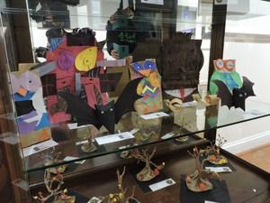 Student art work displayed at Stone Center