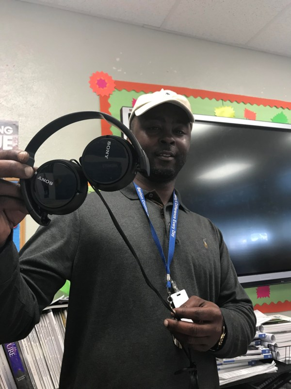 Mrs. Childs-Jones, English Teacher, Receives 40 New Sony Headphones Featured Photo