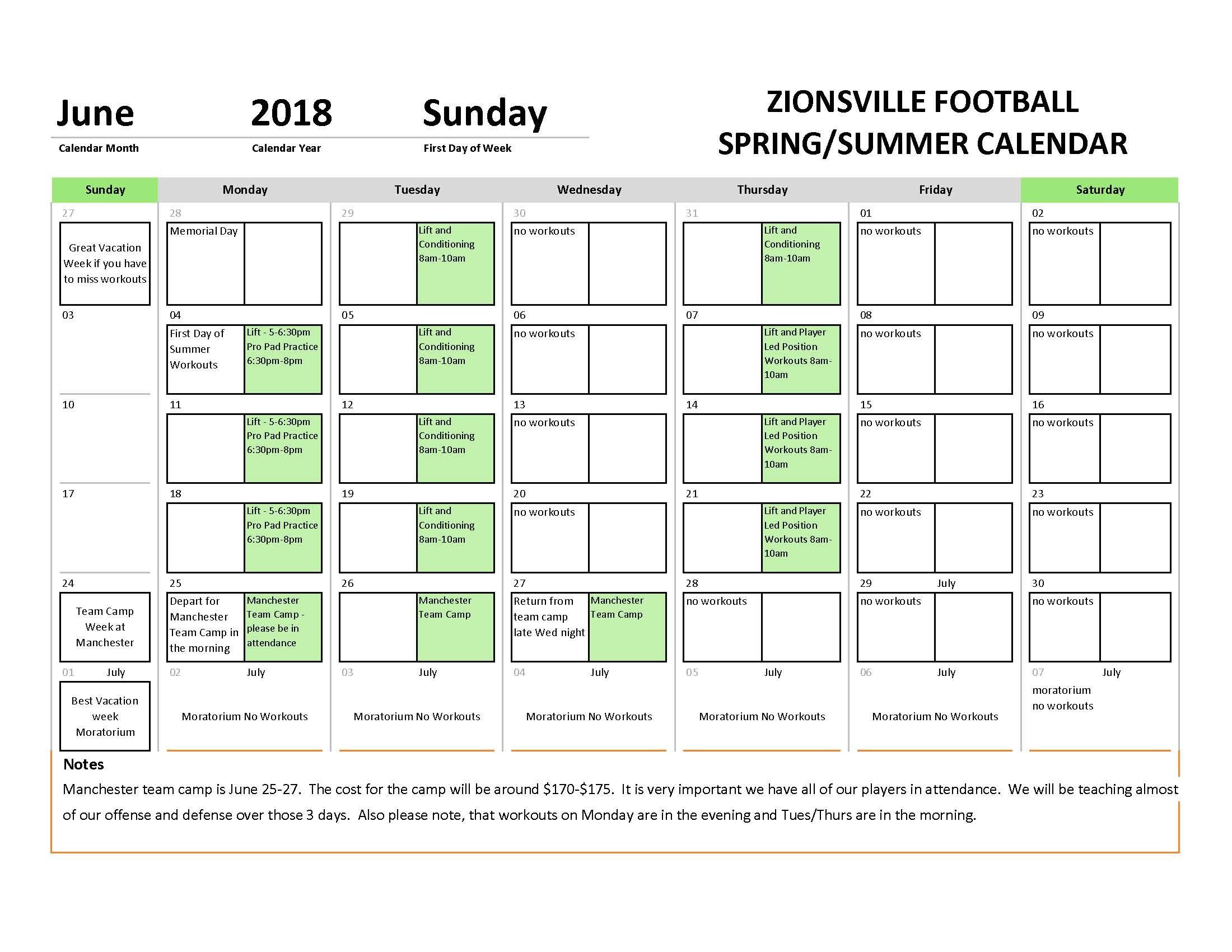 Calendar Year Us Soccer : Football home zionsville community high school